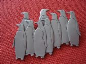 Penguins Brooch by Jonette Jewels USA - 1980s (SOLD)